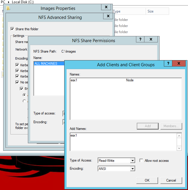 How to create an ESX Datastore from a Windows NFS Share   Michael Groff